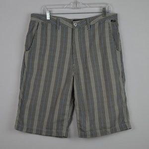 Vans Mens 34 Multi-Color Shorts Stripes Pattern